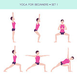 Yoga for beginners basic set