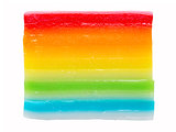 asian steamed rainbow layered rice cake