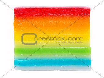 asian steamed rainbow layered rice cake