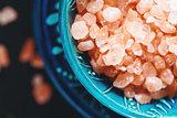 Himalayan Pink Salt Crystals Close Up