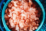 Himalayan Pink Salt Crystals Close Up