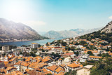 View from Mountain on Kotor Bay