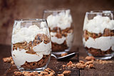 Chocolate Chip Cookie Cheesecake Parfaits
