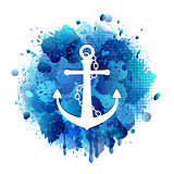 Anchor icon with chain