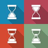 Icons sandglass, vector illustration.