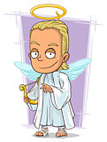 Cartoon attractive young blond angel