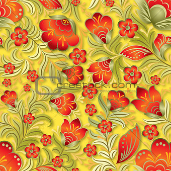 abstract summer seamless floral ornament
