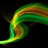 The magical form of yellow green purple smoke. abstract background