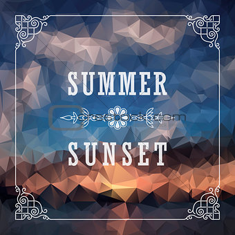 Abstract Geometric background. Summer abstract background poster