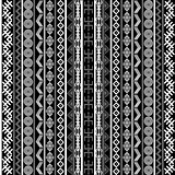 Black and white background with ethnic motifs