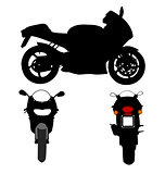 Colection of Motorcycle Vector Silhouettes