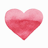 Vector  Isolated Watercolor Red Heart