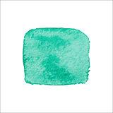 Green Square Watercolor Banner.