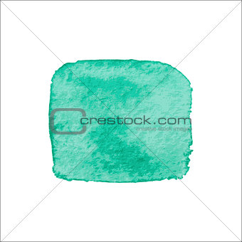 Green Square Watercolor Banner.