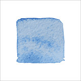 Blue Square Watercolor Banner.