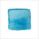 Blue Square Watercolor Banner.