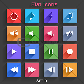 Flat Application Icons Set 9