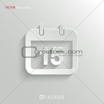 Calendar icon - vector web background