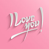 I Love You lettering Greeting Card