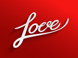 Love lettering Greeting Card