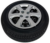 Photo of car tyre isolated