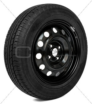Car wheel, isolated