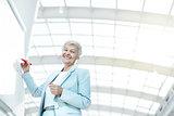 Elderly businesswoman