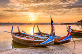 U-Bein Bridge Boats