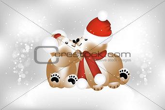 Adorable-teddies-on-Christmas