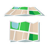 Map icon flat style