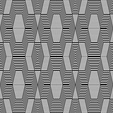 Seamless geometric op art pattern.