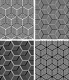 Seamless op art patterns.