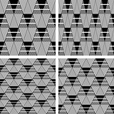 Seamless geometric patterns set.