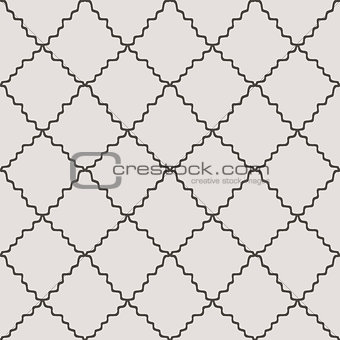 Abstract Diagonal Curved Striped Grid Seamless Texture