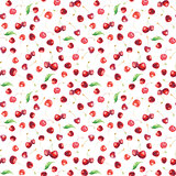 seamless pattern with sweet cherries