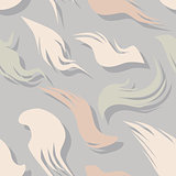 Seamless pattern with fuzzy feathers