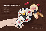 Mobile food photo scene