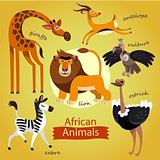 cute wild animals of Africa.