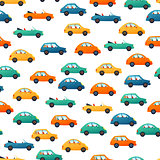 Car vector seamless pattern