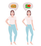 Fat and slim women