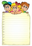 Notepad page with children theme 1