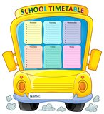 Weekly school timetable composition 4