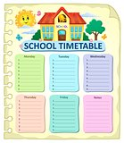 Weekly school timetable thematics 7