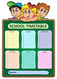 Weekly school timetable theme 5