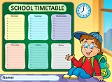 Weekly school timetable theme 6