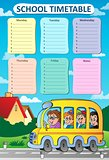 Weekly school timetable theme 8