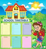 Weekly school timetable topic 3