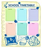 Weekly school timetable topic 4