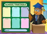 Weekly school timetable topic 8