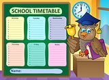 Weekly school timetable topic 9
